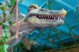 Парк юрского периода в аквапарке ТРЦ ДримТаун