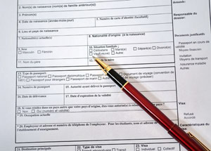 Самые большие трудности связаны с заполнением анкеты на визу во Францию