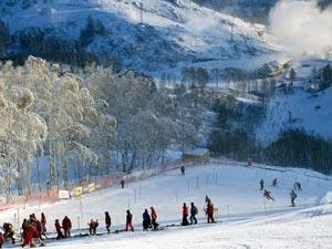 В горнолыжном курорте Абзаково созданы условия не только для спуска профессионалов, но и для занятий новичков