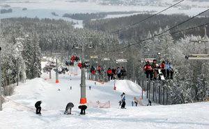 Горнолыжный курорт Силичи расположен в Белоруссии
