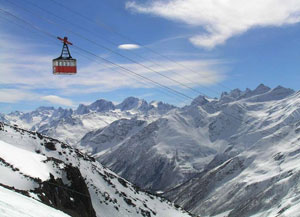 Приэльбрусье — прекрасный горнолыжный курорт для поклонников экстремального спорта