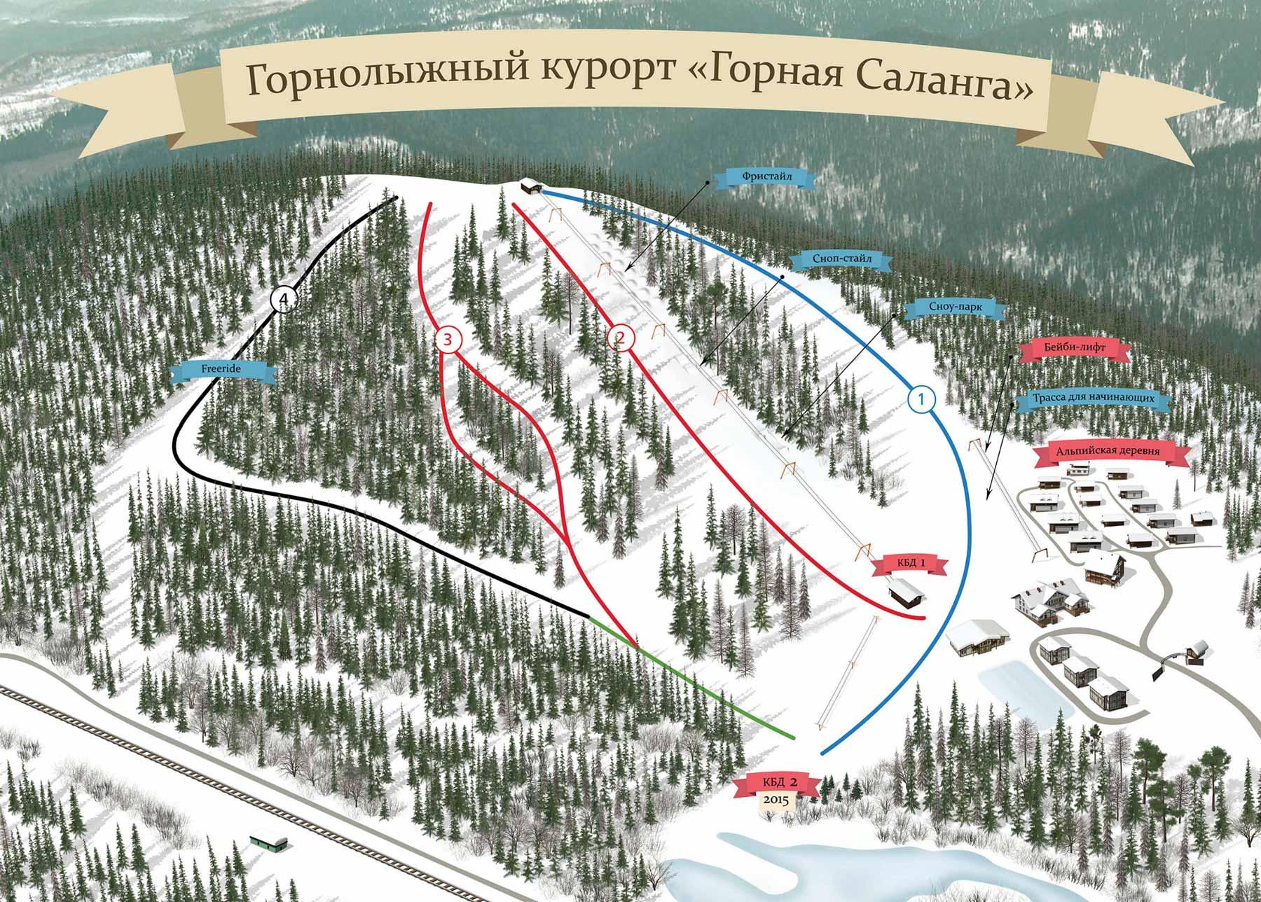 Гора ежовая схема трасс