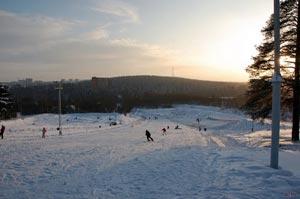 Горнолыжный курорт «Горка» расположен в черте города Петрозаводск