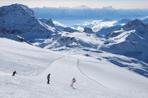 Итальянский горнолыжный курорт Червиния расположен на высоте 2050 м