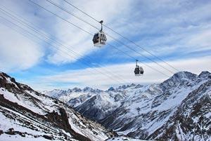 в России горнолыжные курорты имеются повсюду