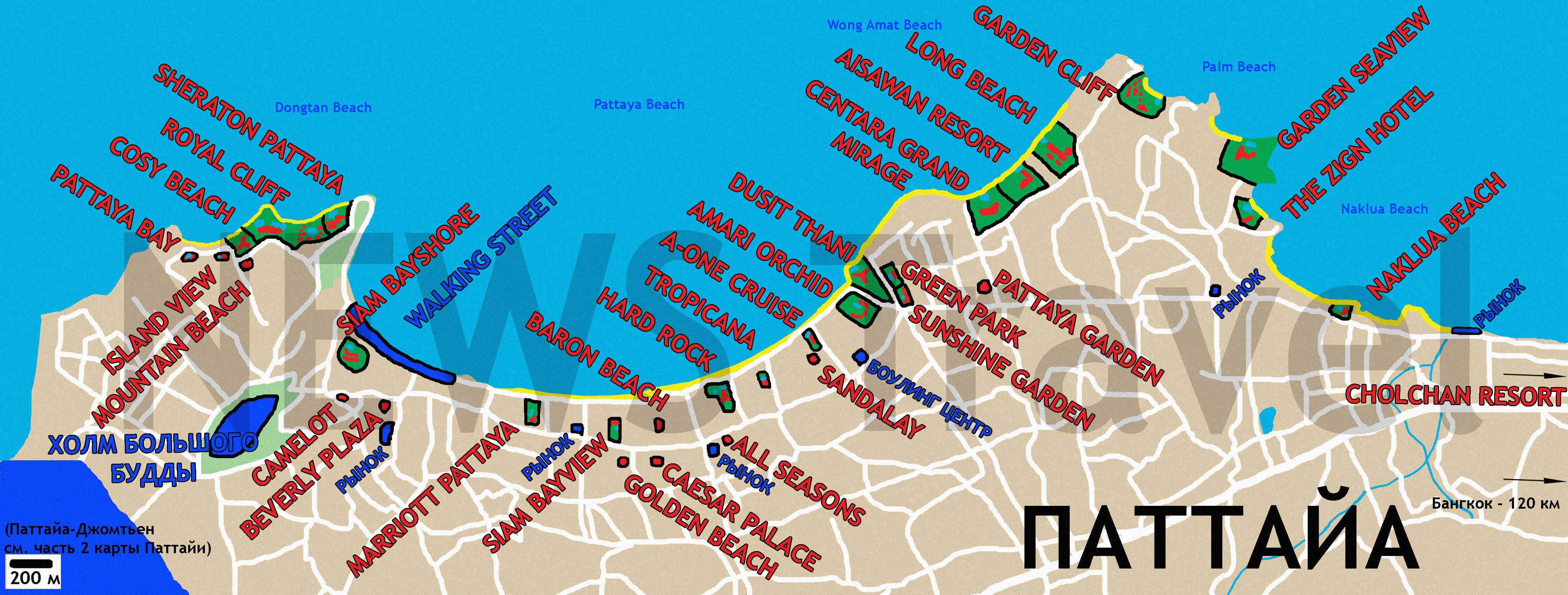 Патайя карта тайланд горящие путевки из казани