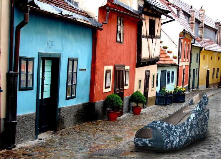 Злата Улочка в Праге - Танцующий дом