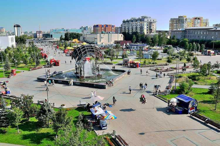 Цветной бульвар в Тюмени