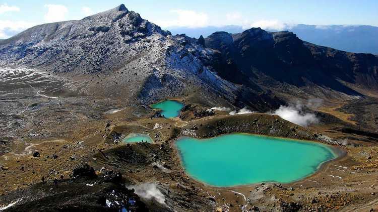 Национальный парк Тонгариро на Северном острове Новой Зеландии