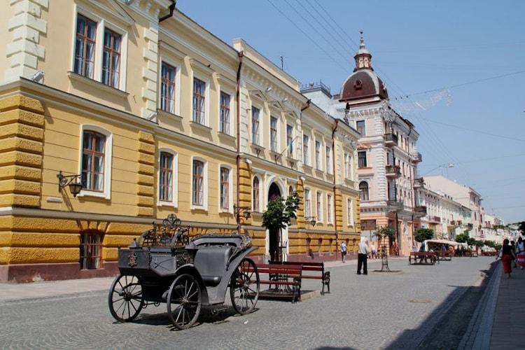 Областной краеведческий музей достопримечательность города Черновцы.