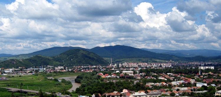 Мукачево, вид с замка Паланок.