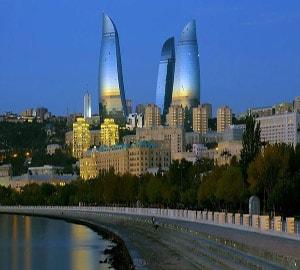 Вид города Баку