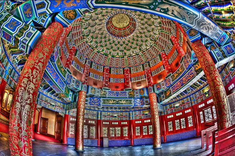 Так выглядит храм Неба внутри
