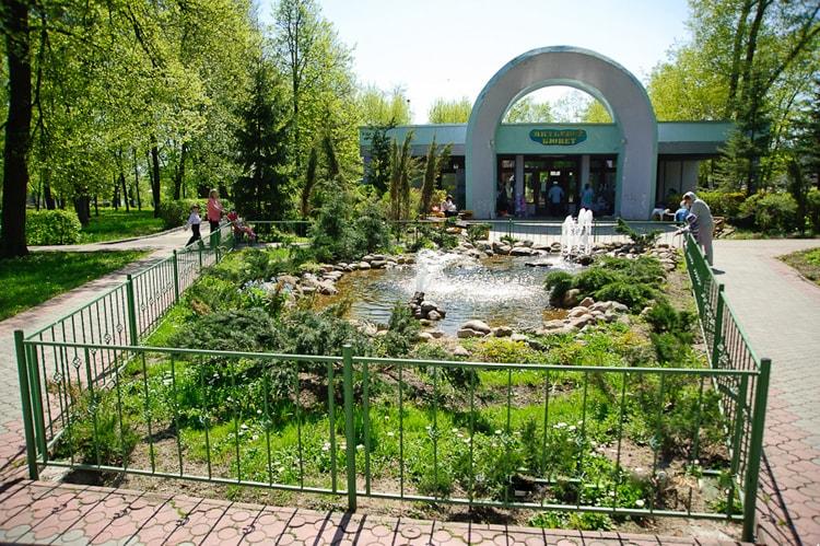 Так выглядит парк на территории санатория в Бобруйске