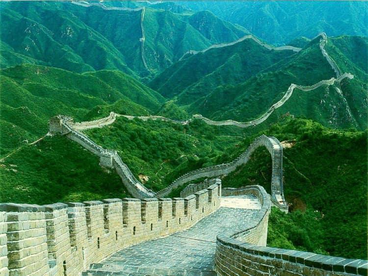 Вид Великой китайской стены