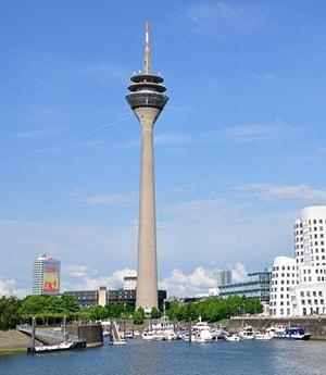 Вид башни Rheinturm