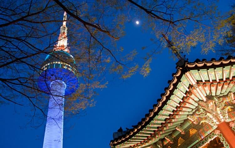 Сеульская Башня в Южной Кореи.