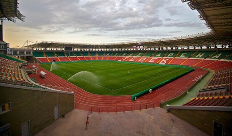 Ахмат-Арена - ультрасовременный спортивный объект является гордостью Грозного.