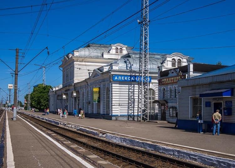 Железнодорожный вокзал – первая достопримечательность, которую видят туристы, приехав в Александров.