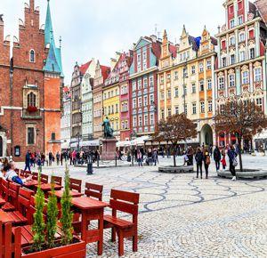Город Вроцлав со всеми интересными достопримечательностями.