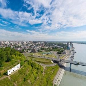 Барнаул со всеми главными достопримечательностями.