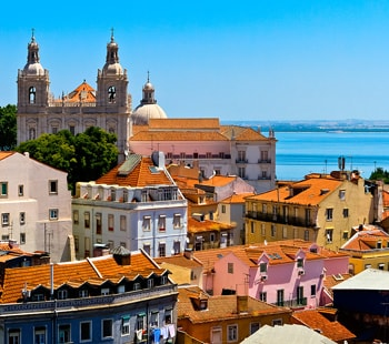 Лиссабон, вид на город.