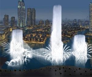 Поющие фонтаны в Дубае - это главная достопримечательность города.