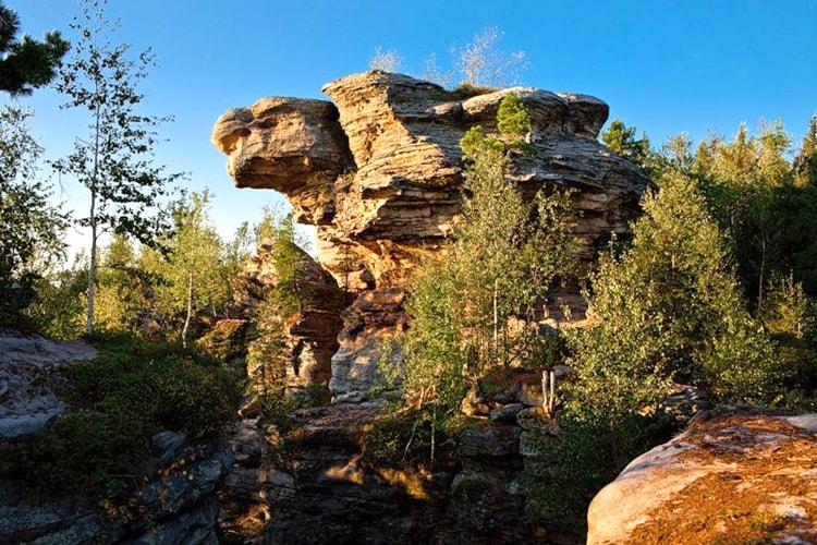 Каменный идол Черепаха, Каменный город, Пермский край.