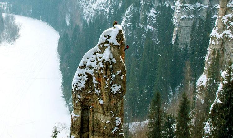 Усьвинские столбы, недалеко от Каменного города, Пермский край.