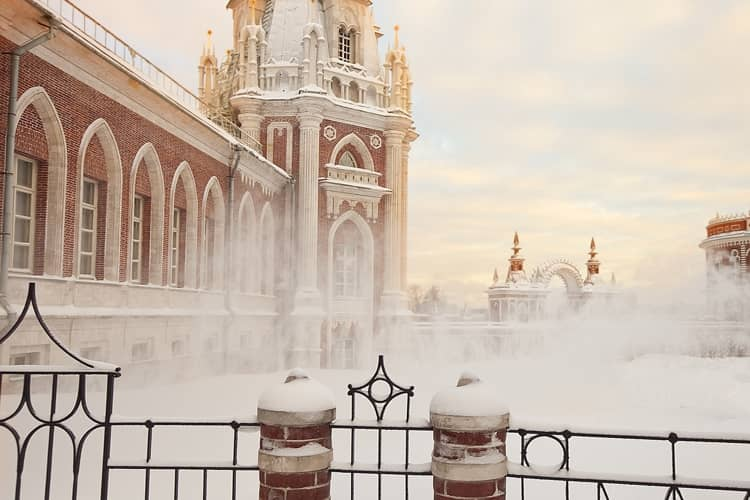 Башня Большого дворца в царицыно музей заповеднике зимой