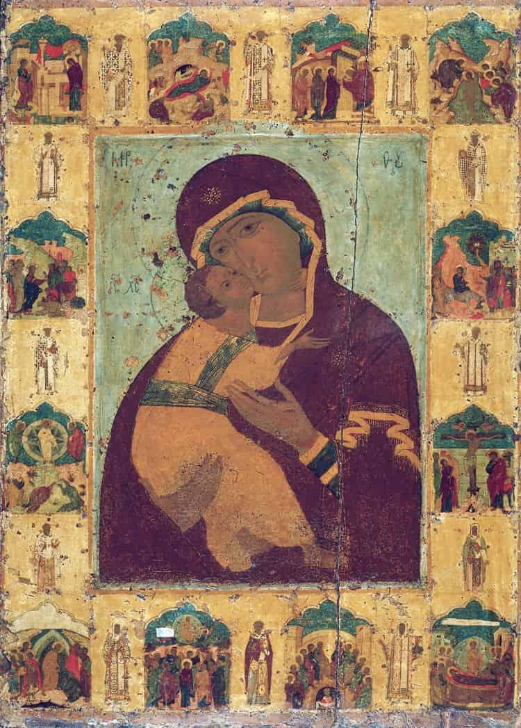 Владимирская икона Богоматери Успенского собора Московского кремля