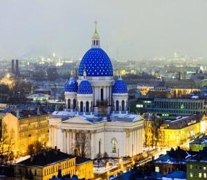 Троице Измайловский собор - один из самых больших монументальных храмов Санкт-Петербурга