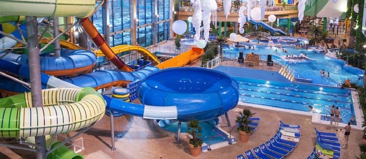 h2o аквапарк с горкой Космическая дыра
