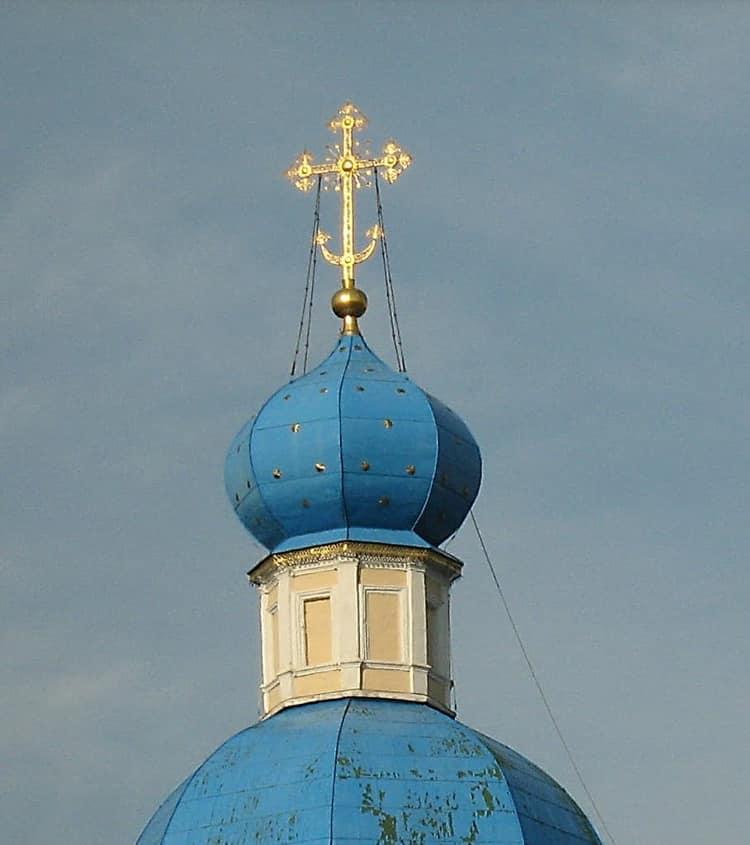 Храм Петра и Павла в Ясенево и его купол вблизи