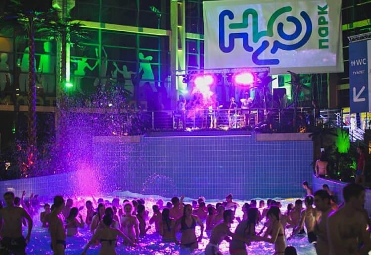 В h2o аквапарке постоянно устраивают тематические зажигательные вечеринки